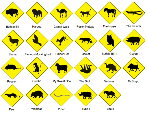 Animal Sticker Sheet