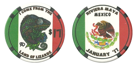Mexico Poker Chip